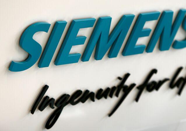 Siemens AG logo is seen in new headquarters in Munich, Germany.