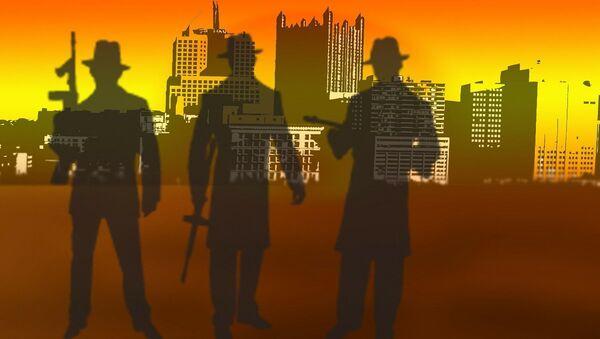 Silhouettes of men holding weapons - Sputnik International