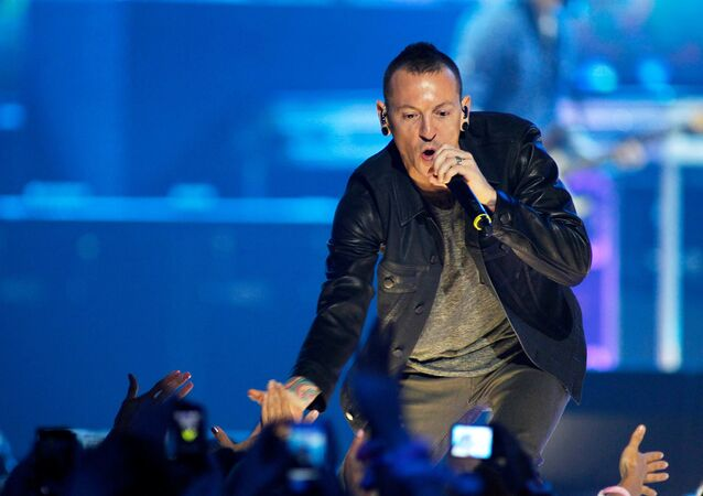 Chester Bennington of the band Linkin Park performs during the second day of the 2012 iHeartRadio Music Festival at the MGM Grand Garden Arena in Las Vegas, Nevada September 22, 2012.