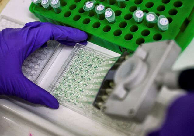 A scientist prepares protein samples for analysis (File)