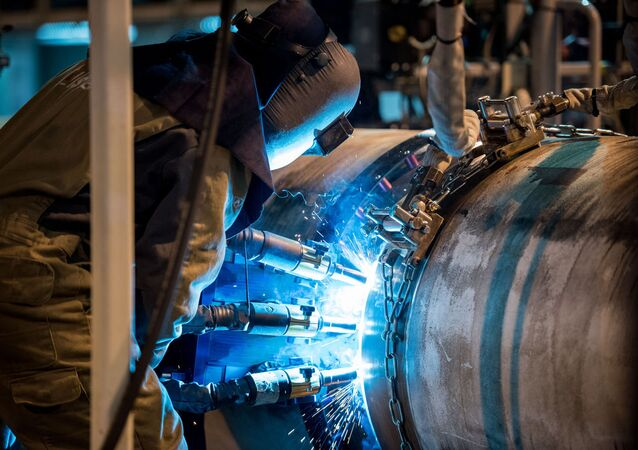 Welding operations for the construction of the Turkish Stream Gas Pipeline