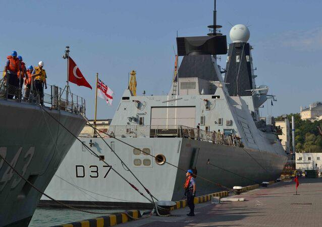 NATO warships arrive at the port of Odessa in Ukraine. File photo