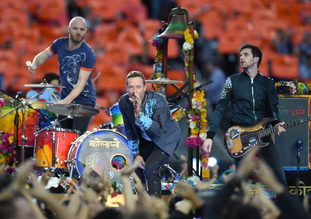 Coldplay performs during Super Bowl 50 between the Carolina Panthers and the Denver Broncos at Levi's Stadium in Santa Clara, California February 7, 2016
