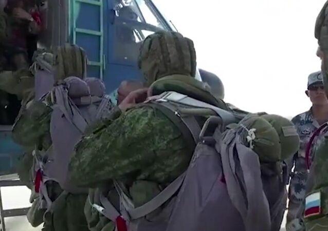 Training Parachute Jumps