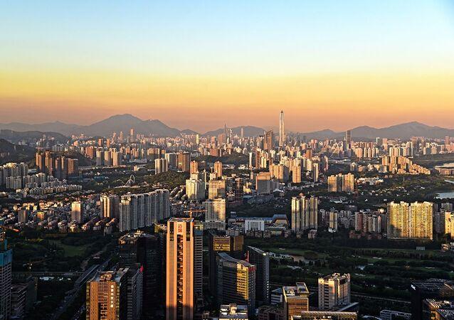 Shenzhen Skyline from Nanshan