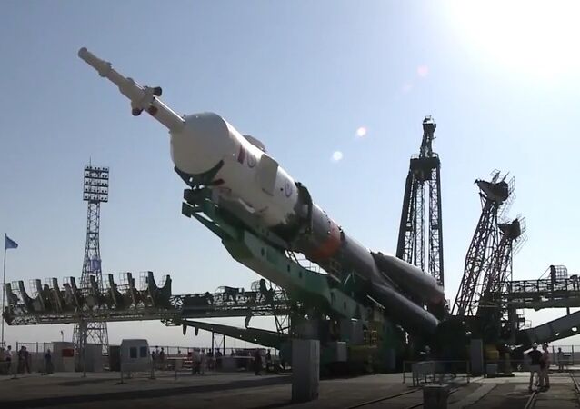 Soyuz MS-05 Spaceship Installed On The Launch Pad