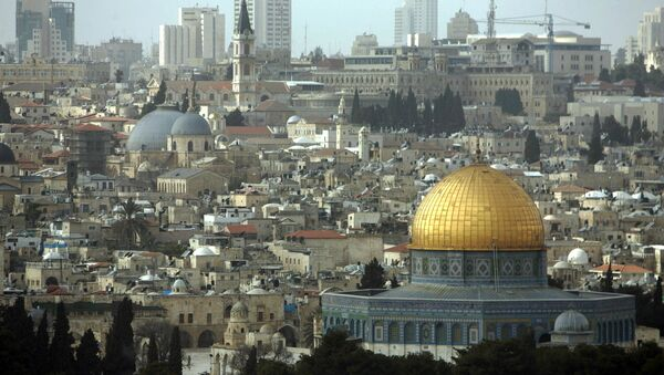 A general view of The Dome of the Rock Mosque at the Al Aqsa Mosque compound, known by the Jews as the Temple Mount, is seen from the Mount of Olives in east Jerusalem. (File) - Sputnik International