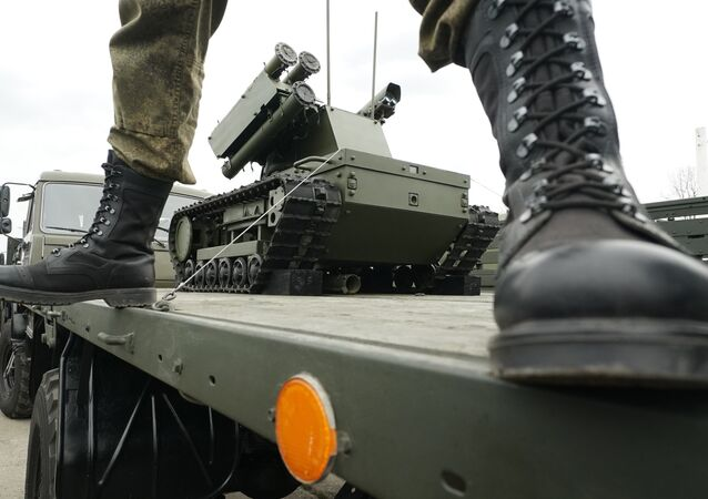 A Platforma-M robotic system for the Baltic Fleet military equipment