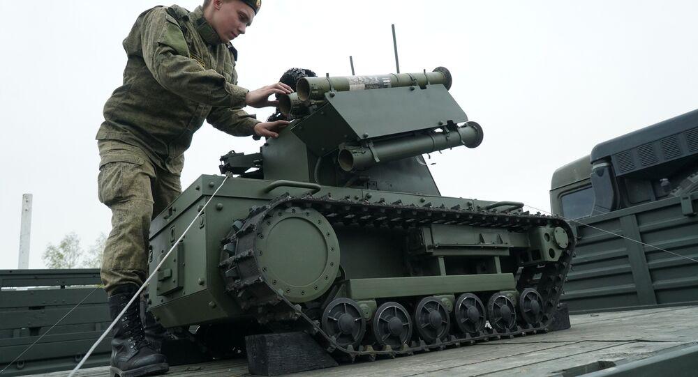 A Platforma-M robotic system of the Baltic Fleet. (File)