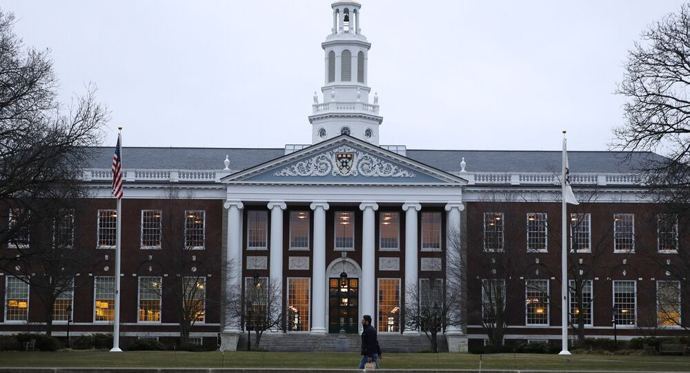 The Baker Library at the Harvard Business School on the campus of Harvard University in Cambridge, Mass., Tuesday, March 7, 2017
