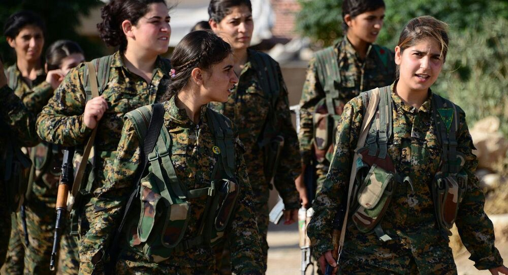 Female fighters of the YPJ play a significant combat role in Rojava.