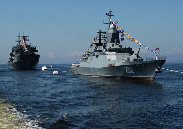 Sovershenny corvette during a general rehearsal of a parade of ships dedicated to Russia's Navy Day in Vladivostok. File photo