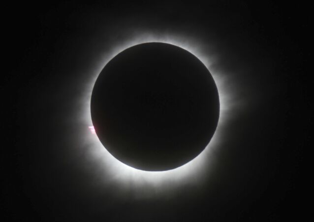 This March 9, 2016 file photo shows a total solar eclipse in Belitung, Indonesia.