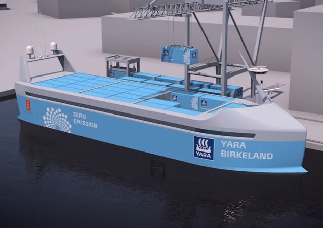 The world's first autonomous, zero emission container ship