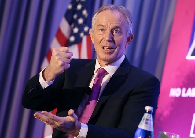 Former United Kingdom Prime Minister H.E. Tony Blair talks about the global imperative to reclaim the new center at the 1787: Constructing The Peace After The War event on Monday December 5, 2016 in Washington DC.