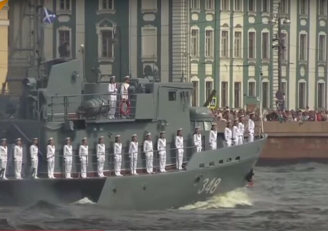 Russia's Navy Day Parade Held in St. Petersburg
