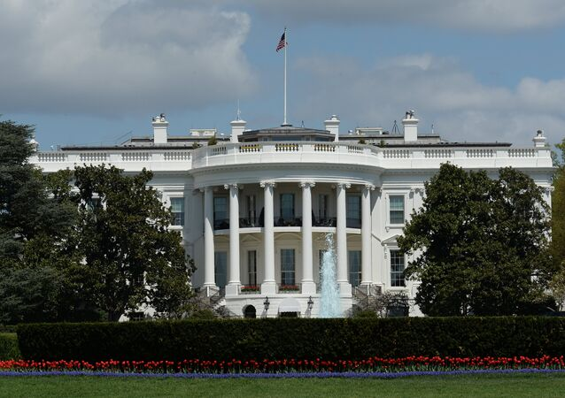 Official residence of the U.S. President, the White House in Washington D.C.