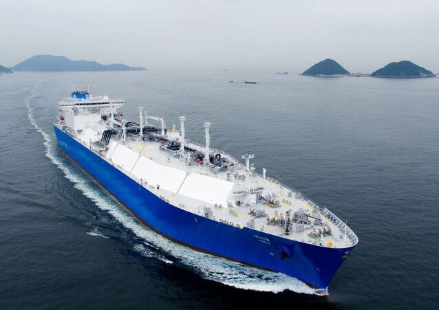 Liquefied natural gas carrier Pskov