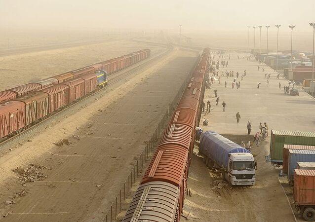 Railway terminal in Mazar-e-Sharif, Afghanistan
