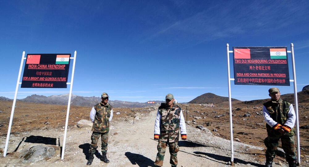 Indian Army personnel keep vigilance at Bumla pass at the India-China border in Arunachal Pradesh. (File)