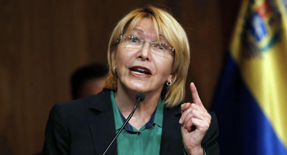 Venezuela's General Prosecutor Luisa Ortega Diaz, speaks during news conference at her office in Caracas, Venezuela