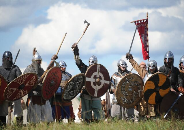 Vikings at The Warrior's Field, an annual festival of history clubs, held in Drakino Park in Serpukhovsky district. (File)