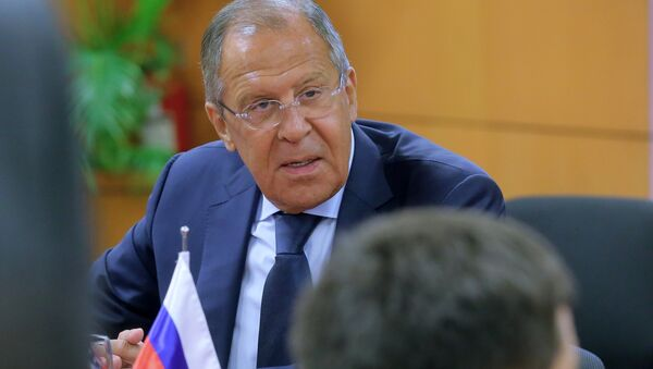 Russian Foreign Minister Sergei Lavrov during a meeting with US Secretary of State Rex Tillerson on the sidelines of the ASEAN in Manila - Sputnik International
