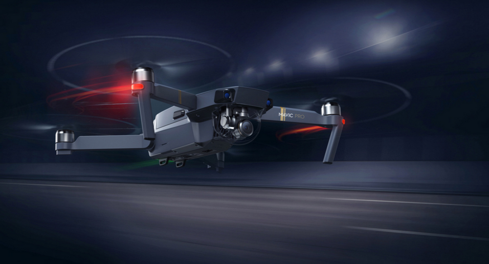 A Chinese-made DJI drone, one of hundreds banned for use by the US military under fears of embedded spyware