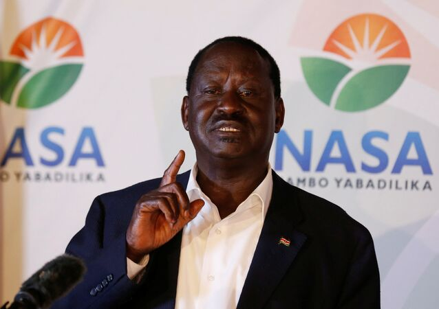 Kenyan opposition leader Raila Odinga, the presidential candidate of the National Super Alliance (NASA) coalition, address a news conference on the concluded presidential election in Nairobi, Kenya, August 9, 2017