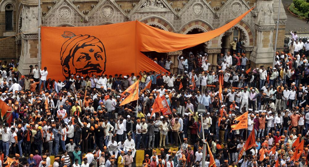 Members of Maratha Kranti Morcha, or Maratha Revolutionary Front take out a silent march in Mumbai, India, Wednesday, Aug. 9, 2017