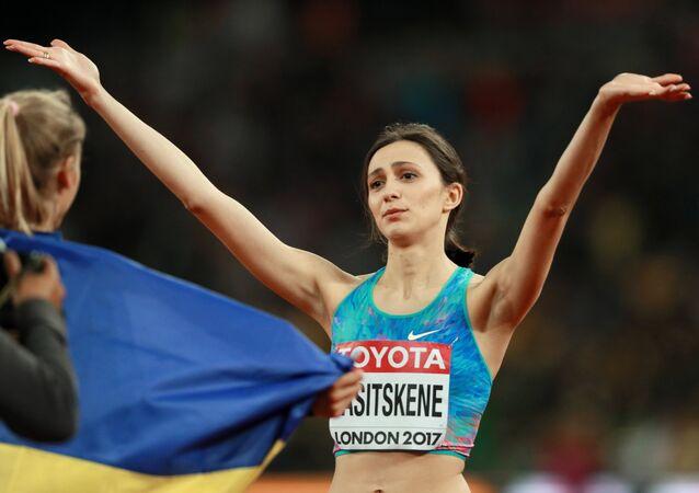 Russian high jumper Maria Lasitskene won gold on Saturday at the 2017 World Athletics Championships in London.
