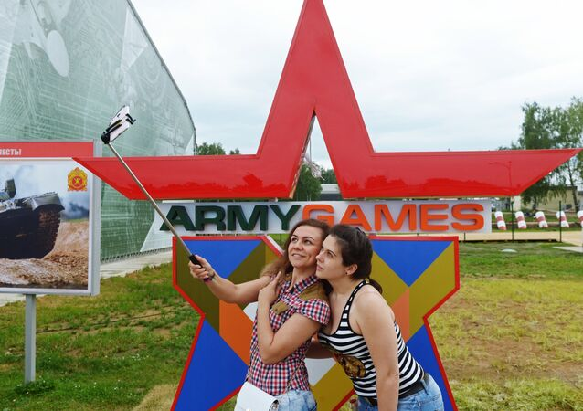 Visitors at the Alabino military training grounds near Moscow where the individual race of the Tank Biathlon of the 2017 International Army Games runs