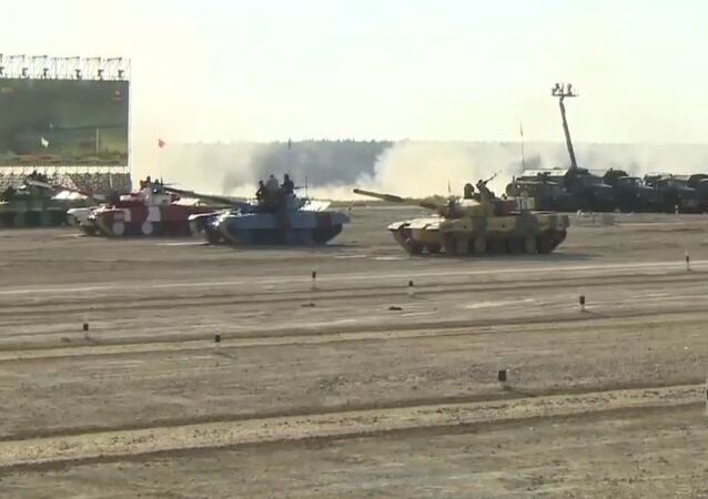 Tank Biathlon Contest In Alabino