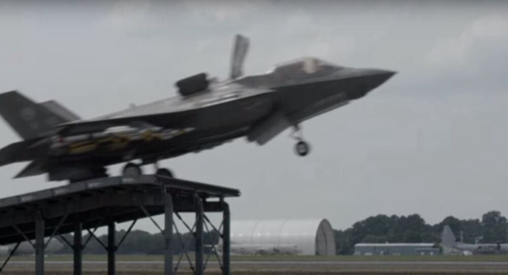 F-35B Ski-Jump Takeoff With Payload