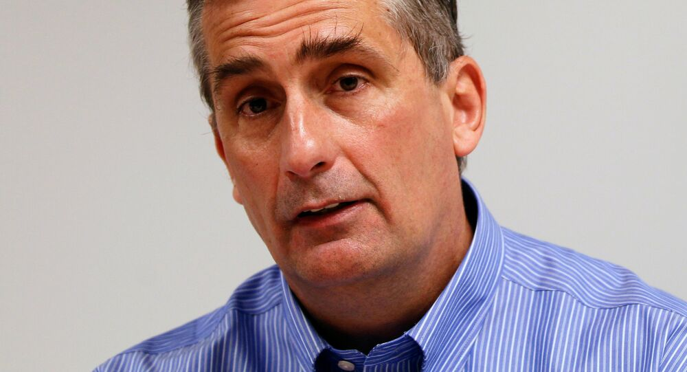 Intel Chief Operating Officer Brian Krzanich is seen during an interview with Reuters at Intel headquarters in Santa Clara, California March 13, 2012