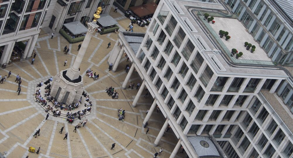 Paternoster Square as seen from St. Paul's Cathedral - London Stock Exchange