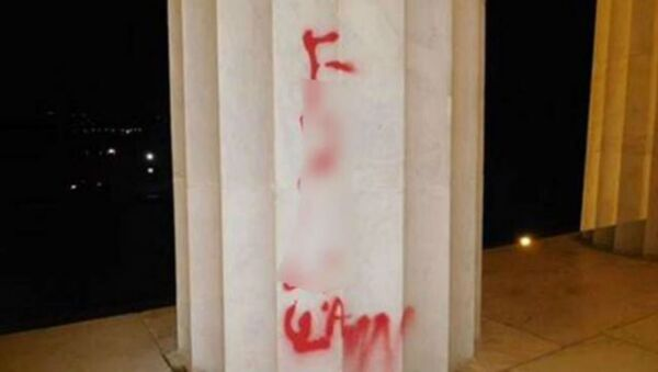 lincoln memorial vandalism - Sputnik International