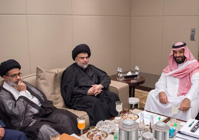 Saudi Crown Prince Mohammed bin Salman meets with Iraqi Shi'ite leader Muqtada al-Sadr in Jeddah, Saudi Arabia July 30, 2017