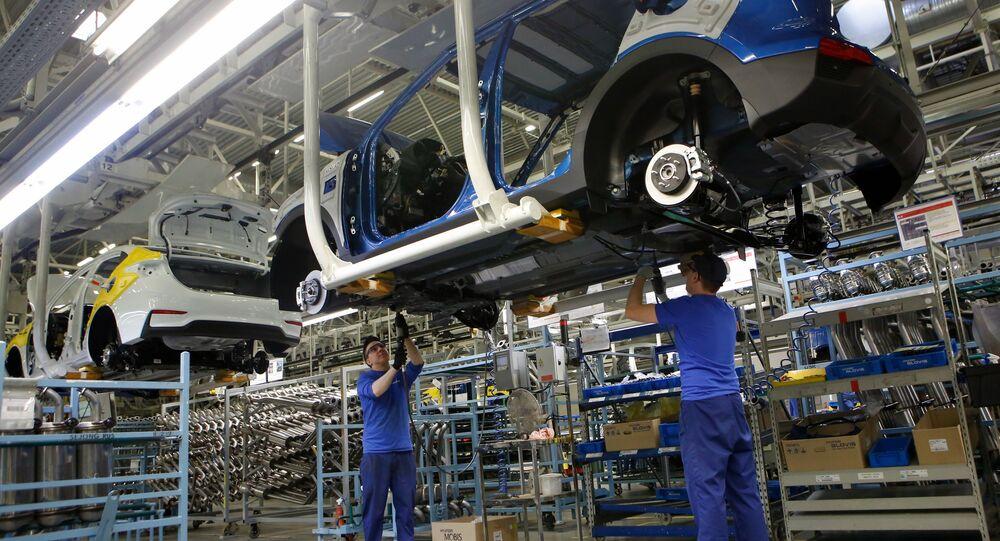 Updated Hyundai Solaris cars manufactured in Leningrad Region