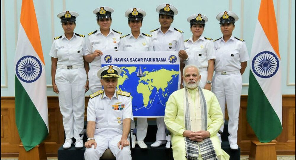 Six lady officers of the Indian Navy will set off from Goa later this month to circumnavigate the globe on the sailing vessel Tarini