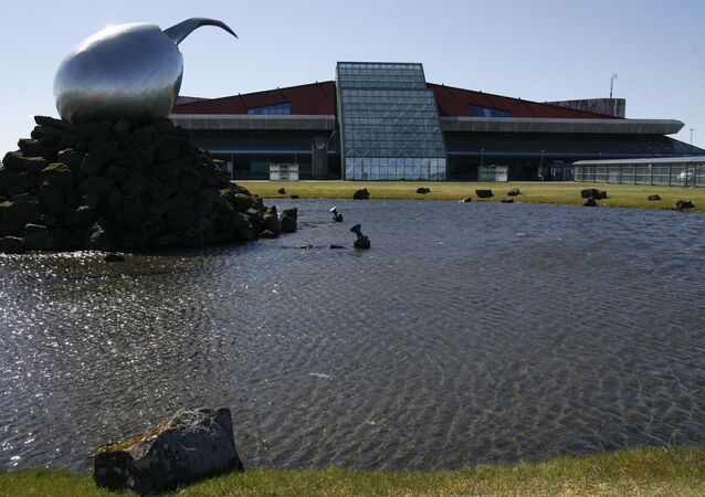 A general view of the exterior of Keflavik airport, Keflavik, Iceland