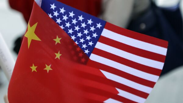 Chinese and US flags. (File) - Sputnik International