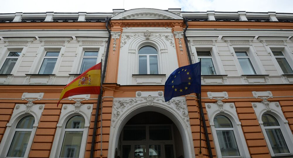 The Spanish Embassy building in Moscow.