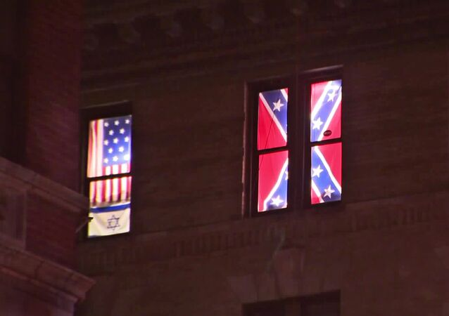 New York Apartment Confederate Flags