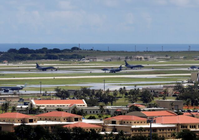 A view of U.S. military planes parked on the tarmac of Andersen Air Force base on the island of Guam, a U.S. Pacific Territory, August 15, 2017