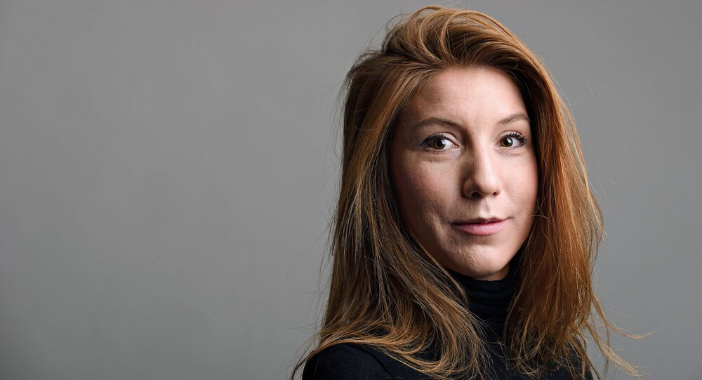 A photo of Swedish journalist Kim Wall who was aboard a submarine UC3 Nautilus before it sank.