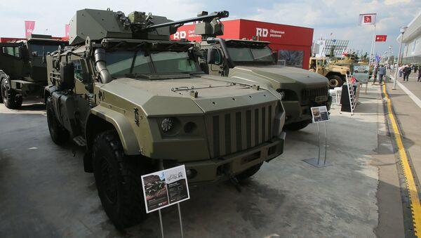 The Taifun K-4386 armored vehicle is presented at the Army 2017 International Military-Technical Forum, Moscow Region - Sputnik International
