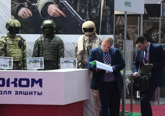 Body armor for service personnel on display at the Army 2017 International Military-Technical Forum in the Moscow Region
