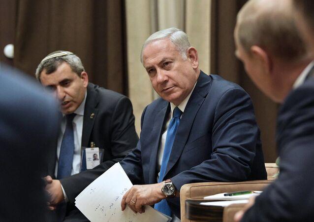 President Vladimir Putin meets with Prime Minister of Israel Benjamin Netanyahu