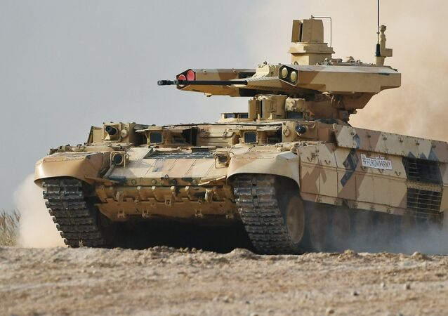 The BMPT Terminator tank support combat vehicle